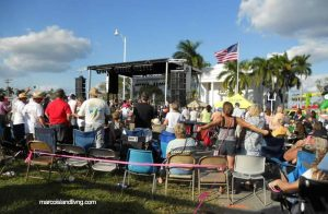 Live music is part of the fun at the Everglades Seafood Festival, Everglades City, FL