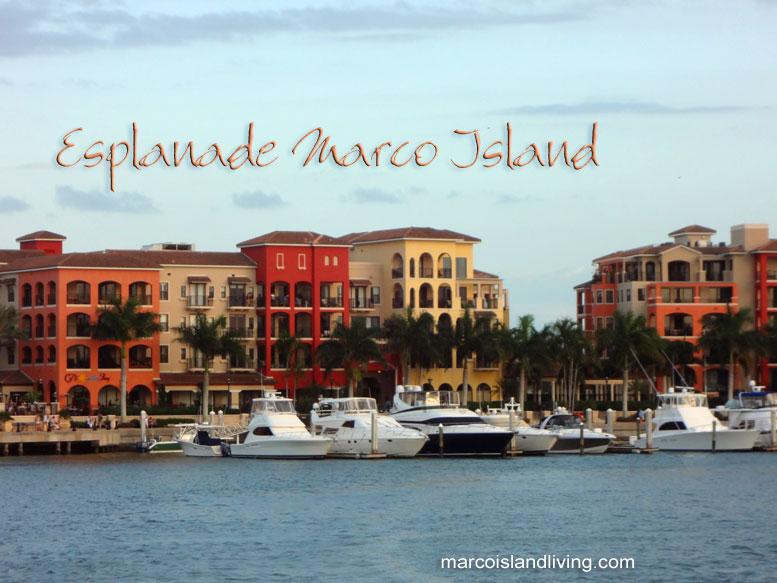 the Esplanade Shoppes and Marina Marco Island FL